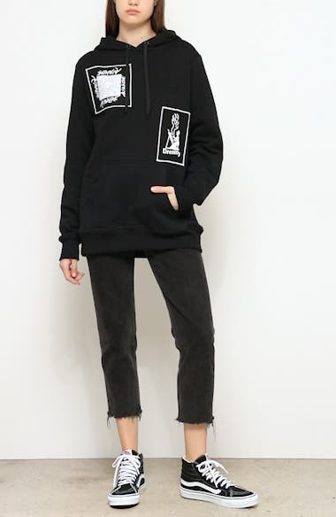 Graphic Patch Oversize Hoodie, video thumbnail