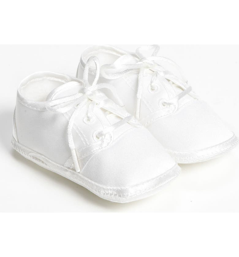 LITTLE THINGS MEAN A LOT Matte Satin Shoe, Main, color, WHITE