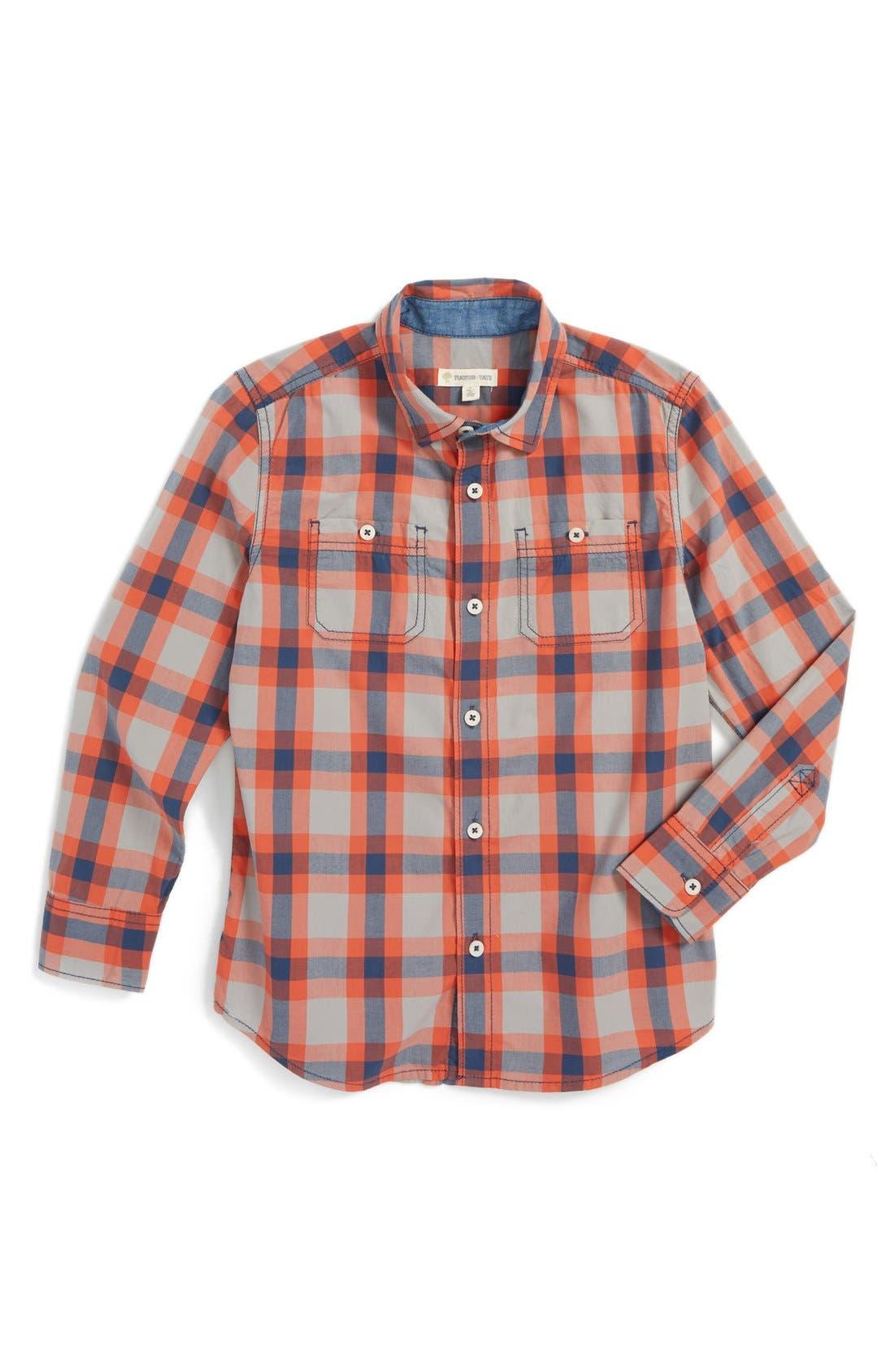 ,                             'Photo' Buffalo Plaid Woven Shirt,                             Main thumbnail 11, color,                             050