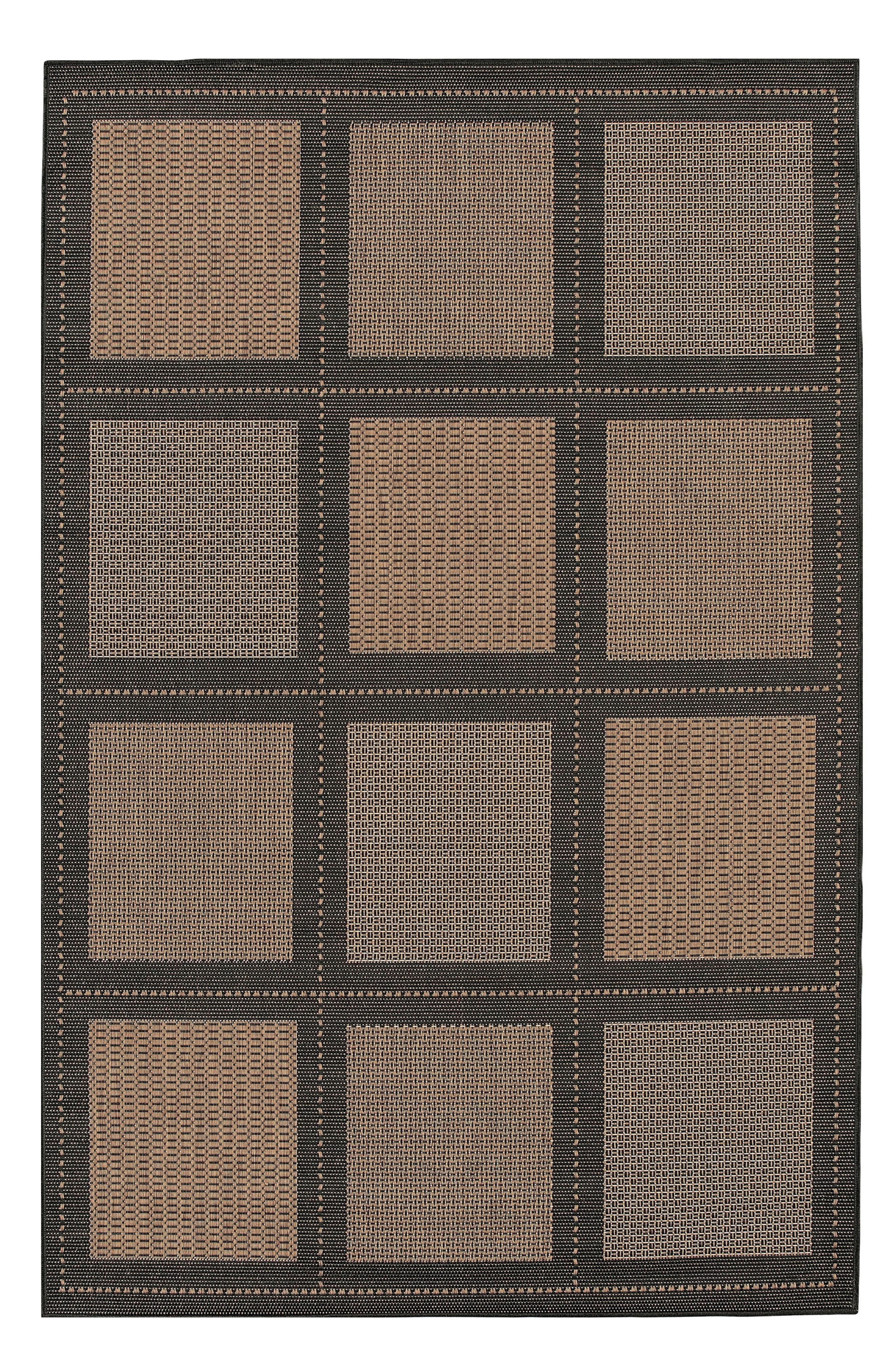 A bold check pattern lends standout style to a versatile rug power-loomed in fade-resistant polypropylene, making it great for high-traffic areas both inside and outside. Style Name: Couristan Reeife Summit Indoor/outdoor Rug. Style Number: 5368550. Available in stores.