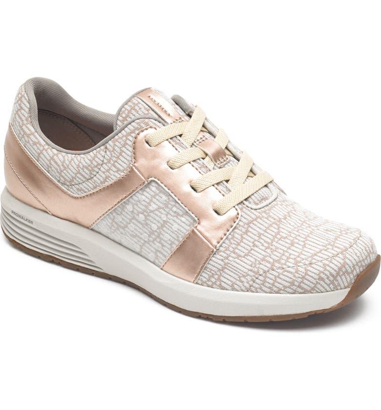 ROCKPORT Trustride Knit Sneaker, Main, color, ROSE GOLD