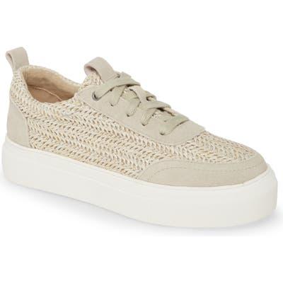 Mia Rusty Woven Platform Sneaker, Beige