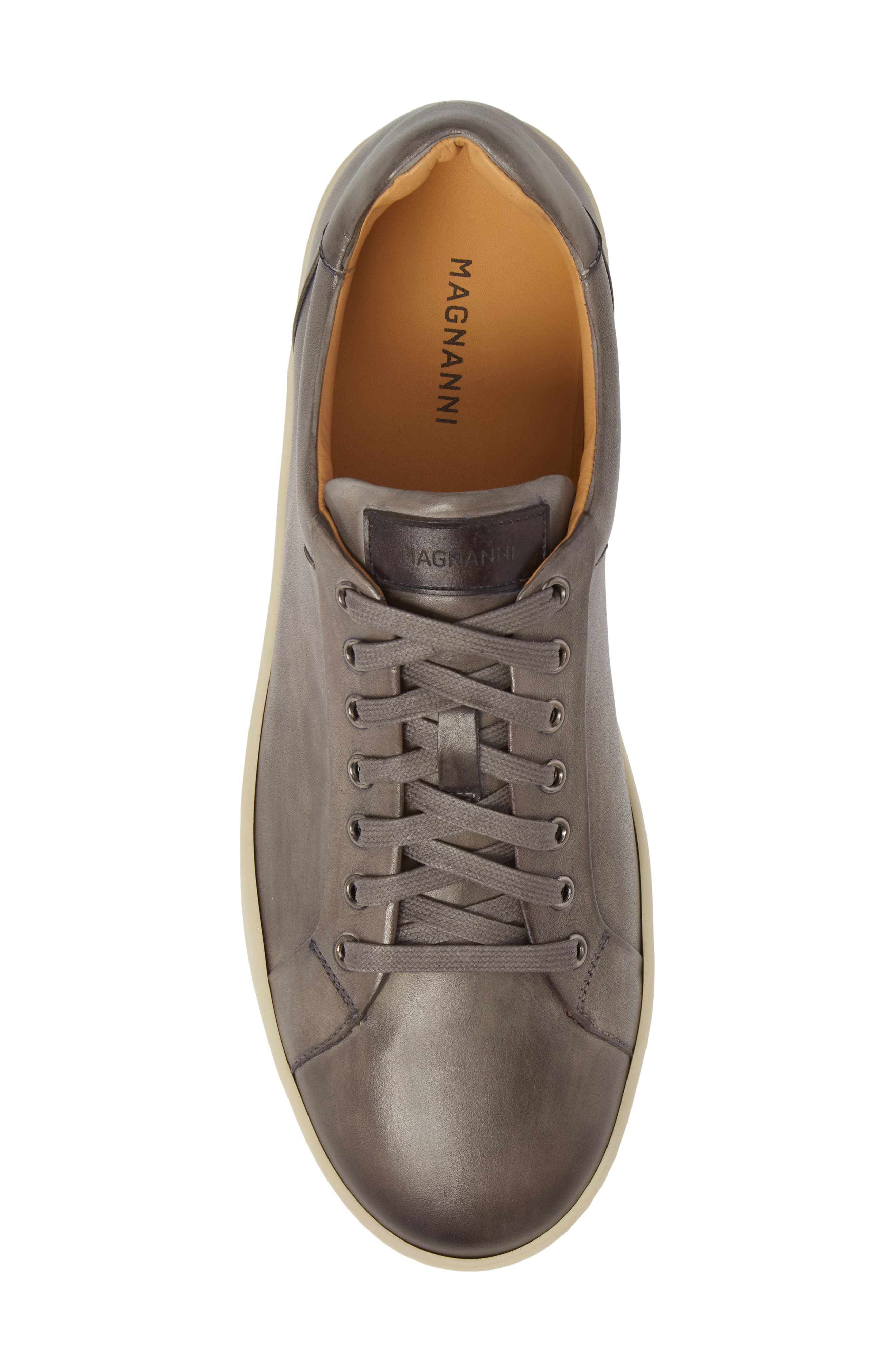 ,                             Elonso Low Top Sneaker,                             Alternate thumbnail 5, color,                             GREY LEATHER