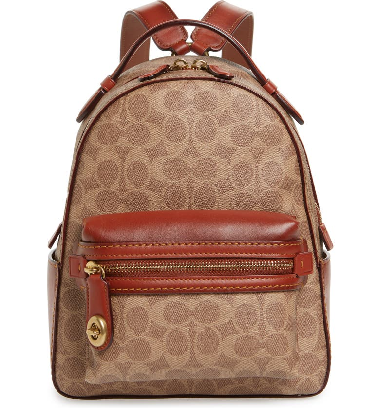 COACH 1941 Signature Canvas Campus 23 Backpack, Main, color, 200