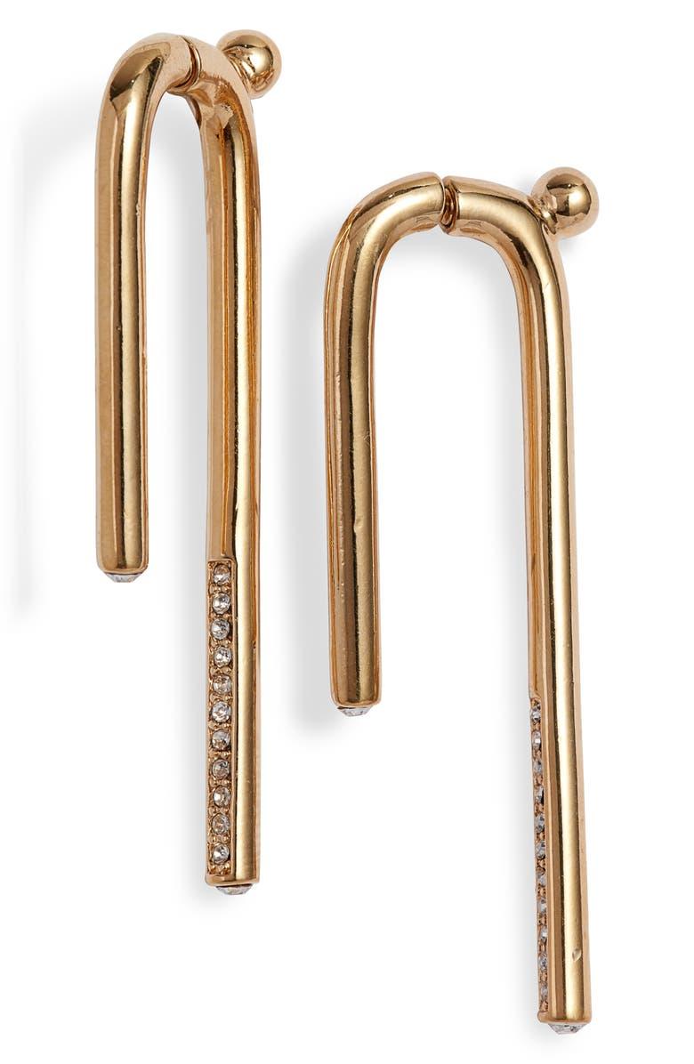 DEMARSON Celeste Linear Drop Earrings, Main, color, 710
