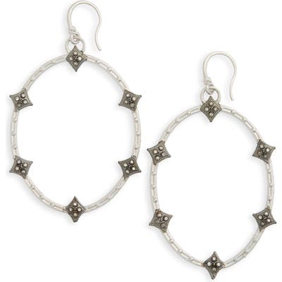 Armenta Old World Crivelli Oval Drop Diamond Earrings