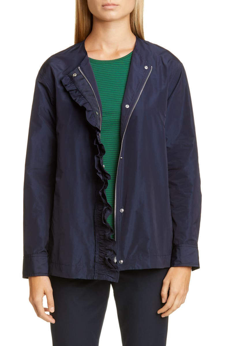 LAFAYETTE 148 NEW YORK Arlo Jacket, Main, color, ADMIRAL BLUE IRIDESCENT