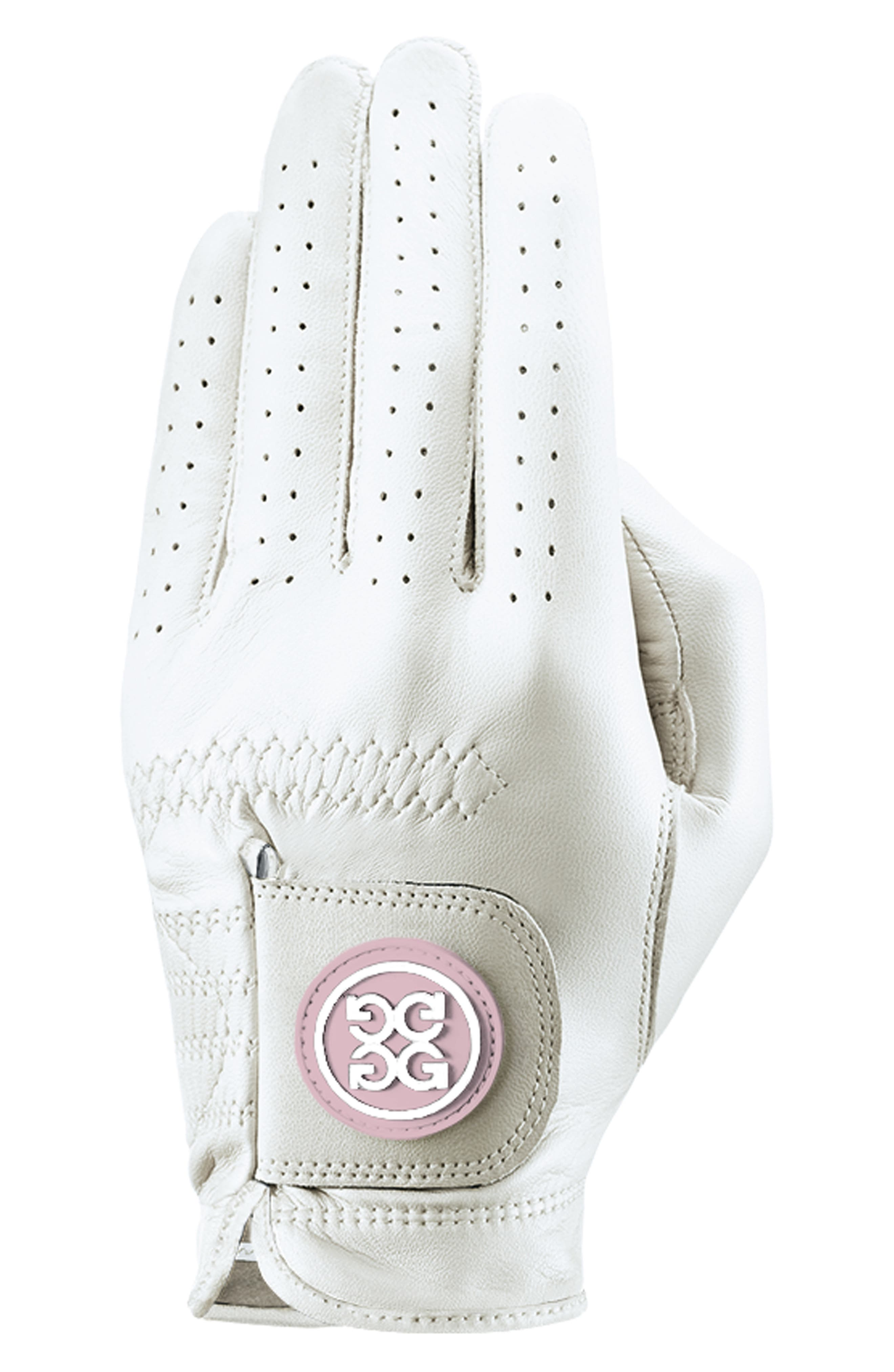 G/fore Essential Leather Golf Glove, White