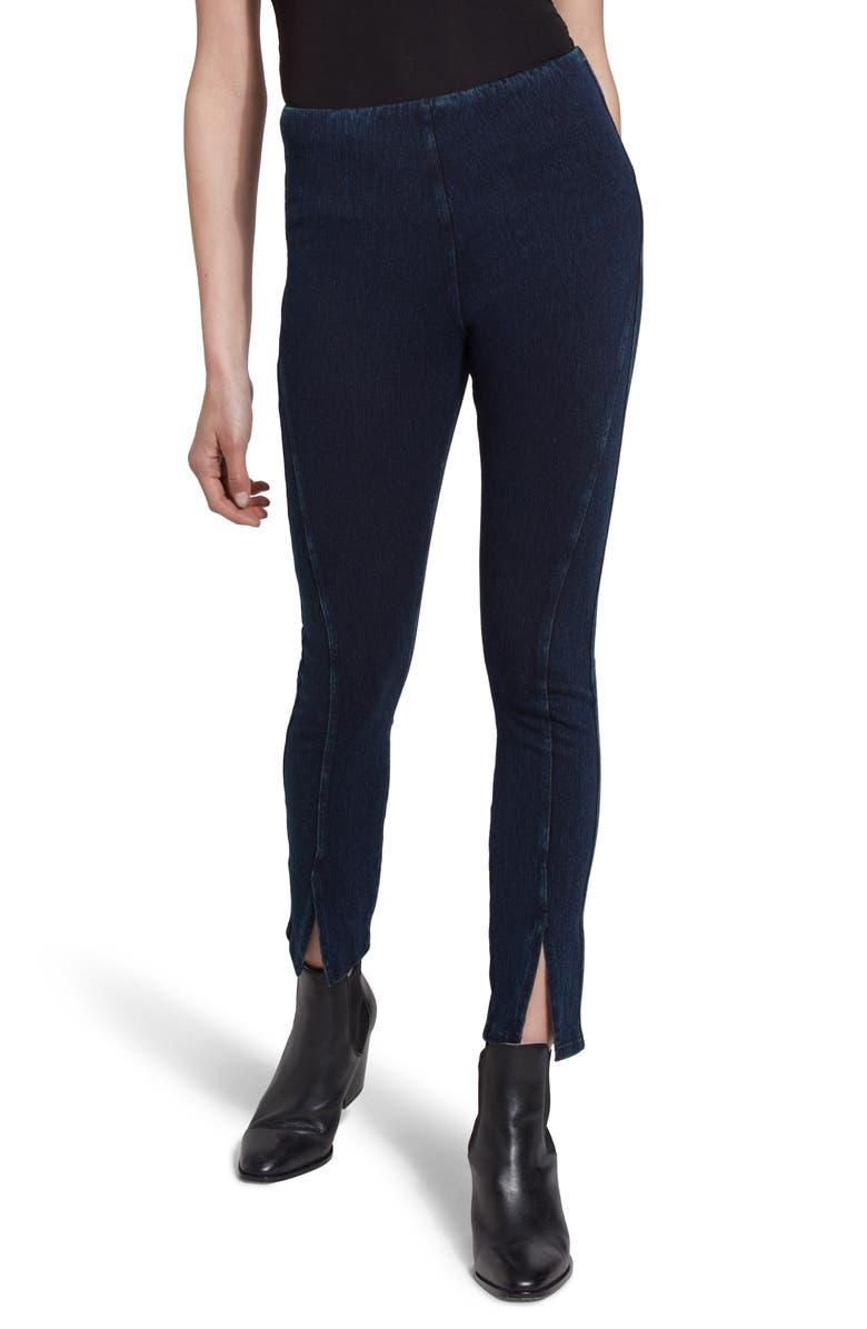 LYSSÉ Split Hem Crop Denim Leggings, Main, color, INDIGO