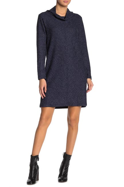 Image of Max Studio Cowl Neck Knit Sweater Dress