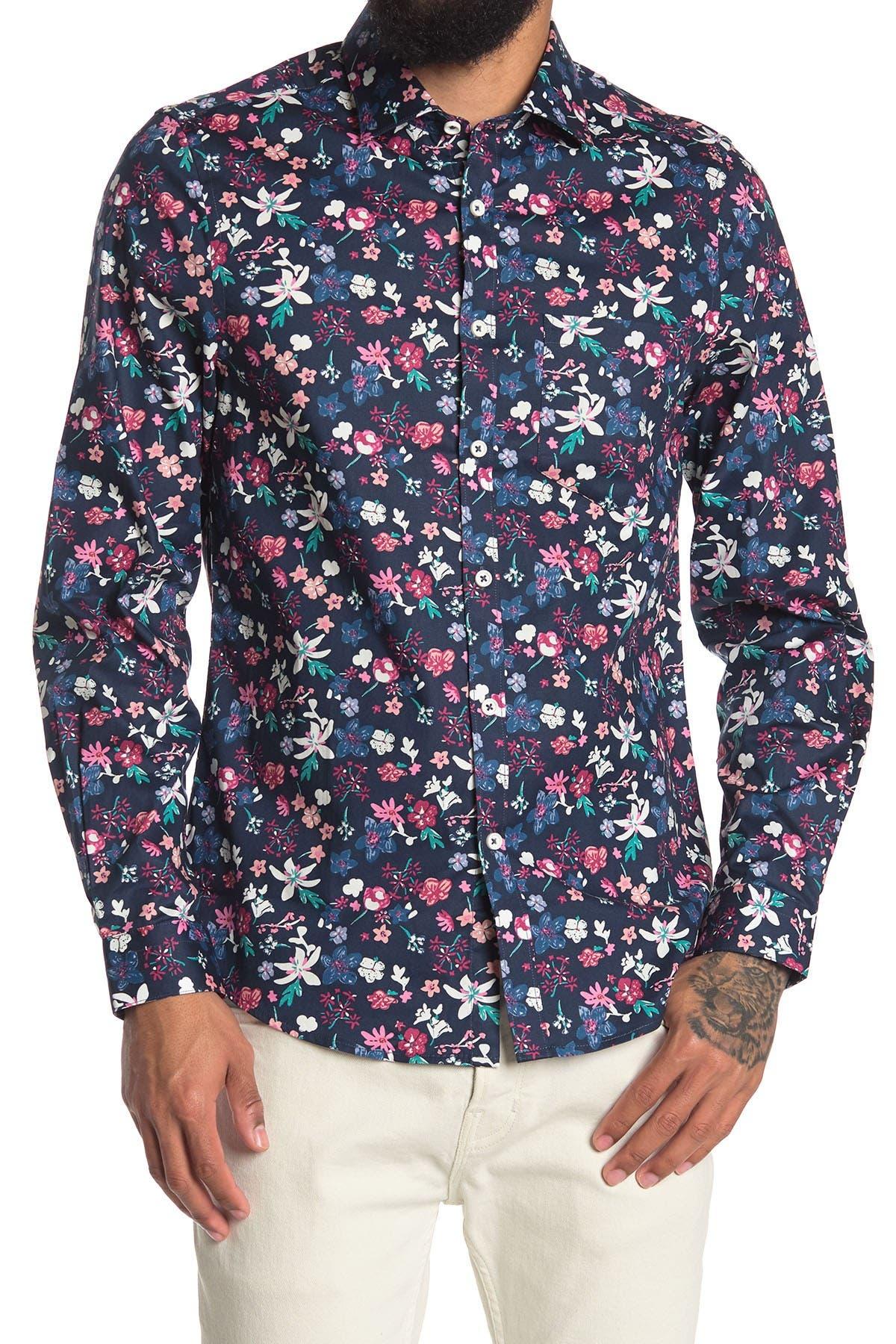 Image of Paisley & Gray Floral Print Slim Fit Shirt