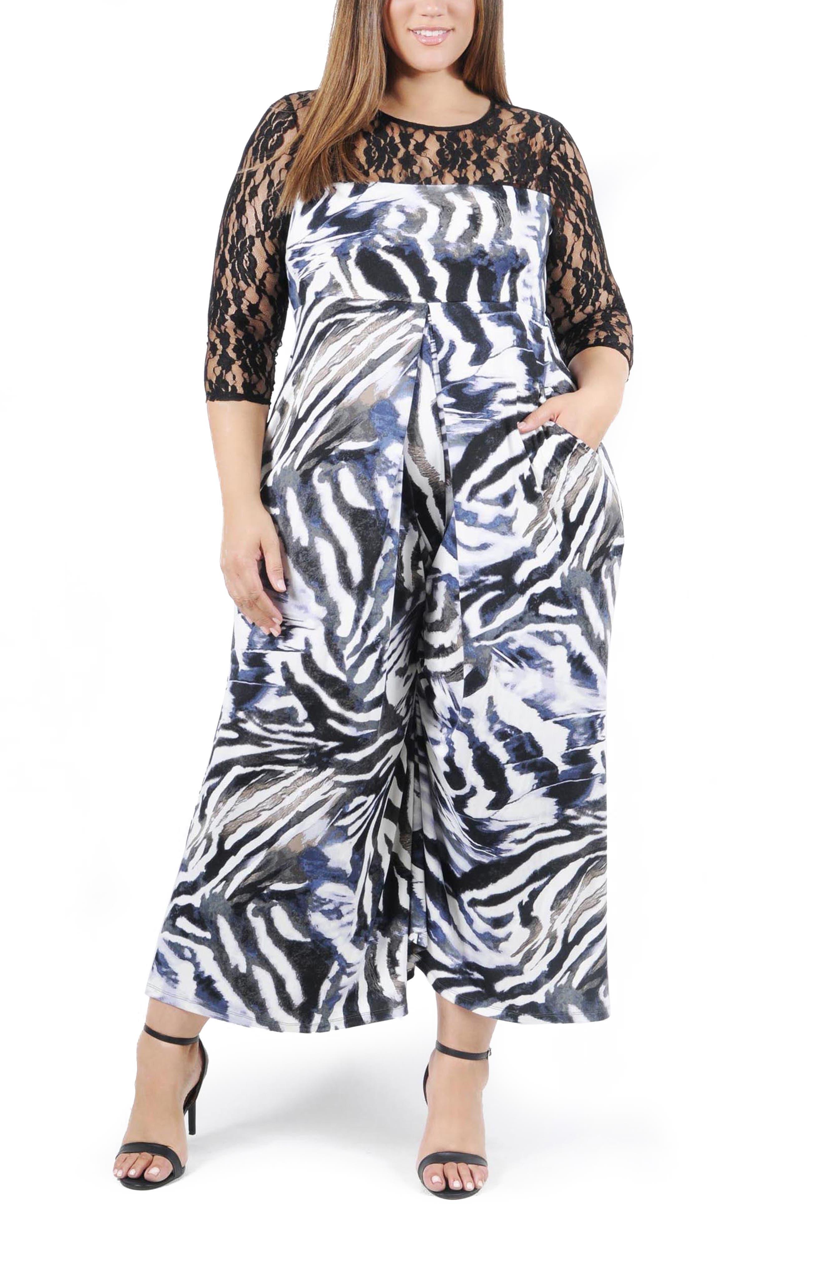 Lana Animal Print Lace Jumpsuit