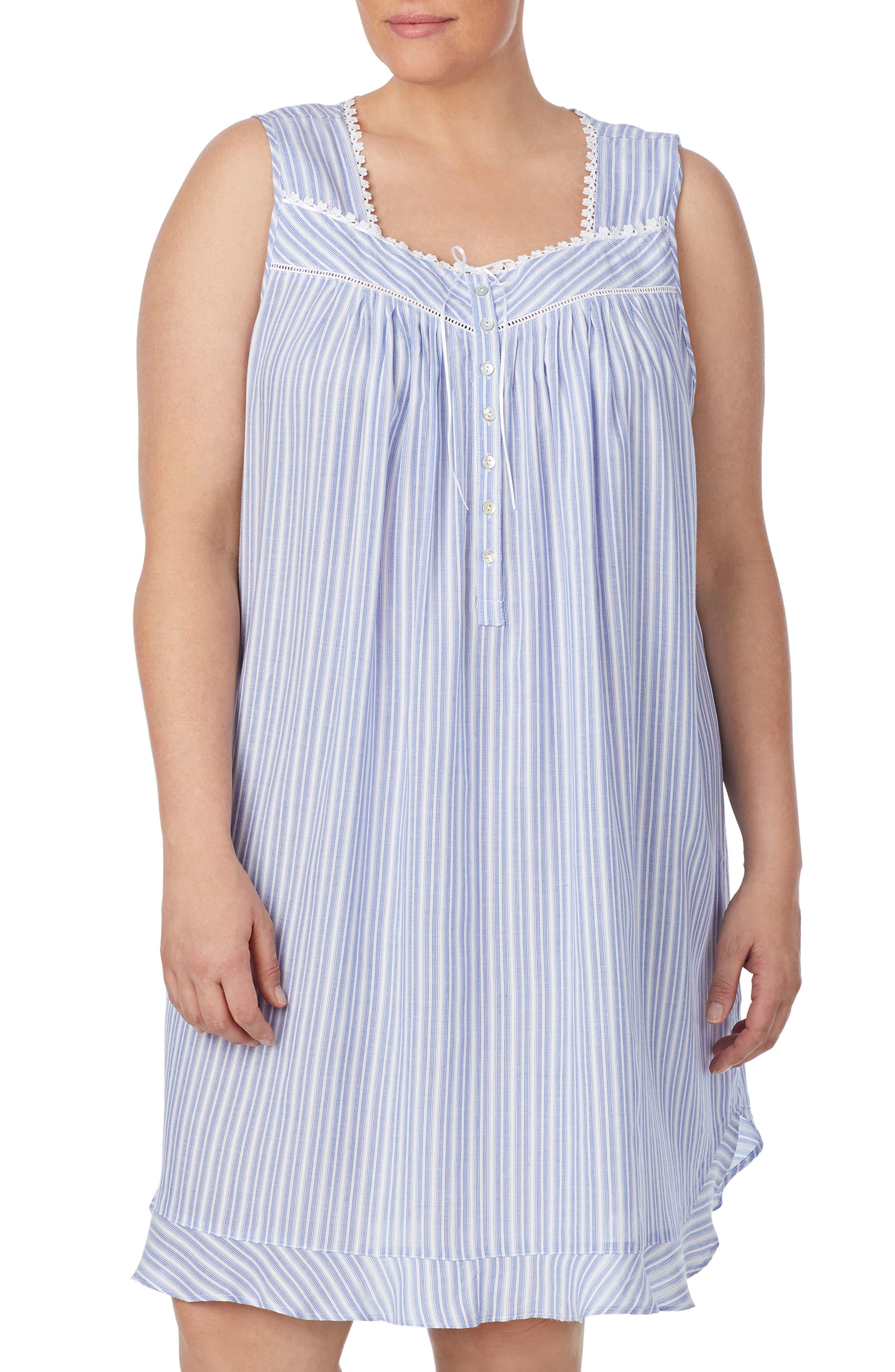 Plus Size Eileen West Short Nightgown, White