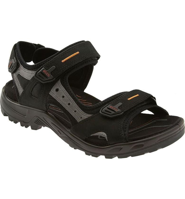 ECCO 'Yucatan' Sandal, Main, color, BLACK/GREY