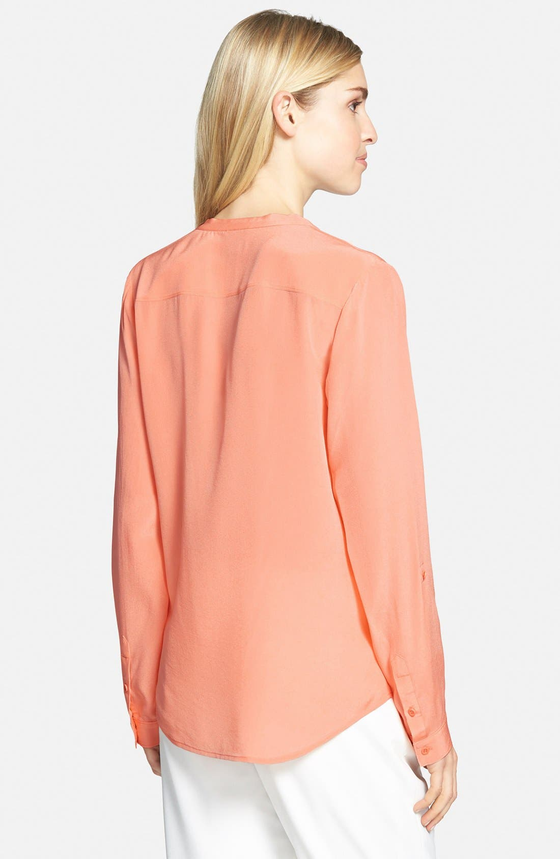 ,                             Collarless Silk Blouse,                             Alternate thumbnail 84, color,                             950