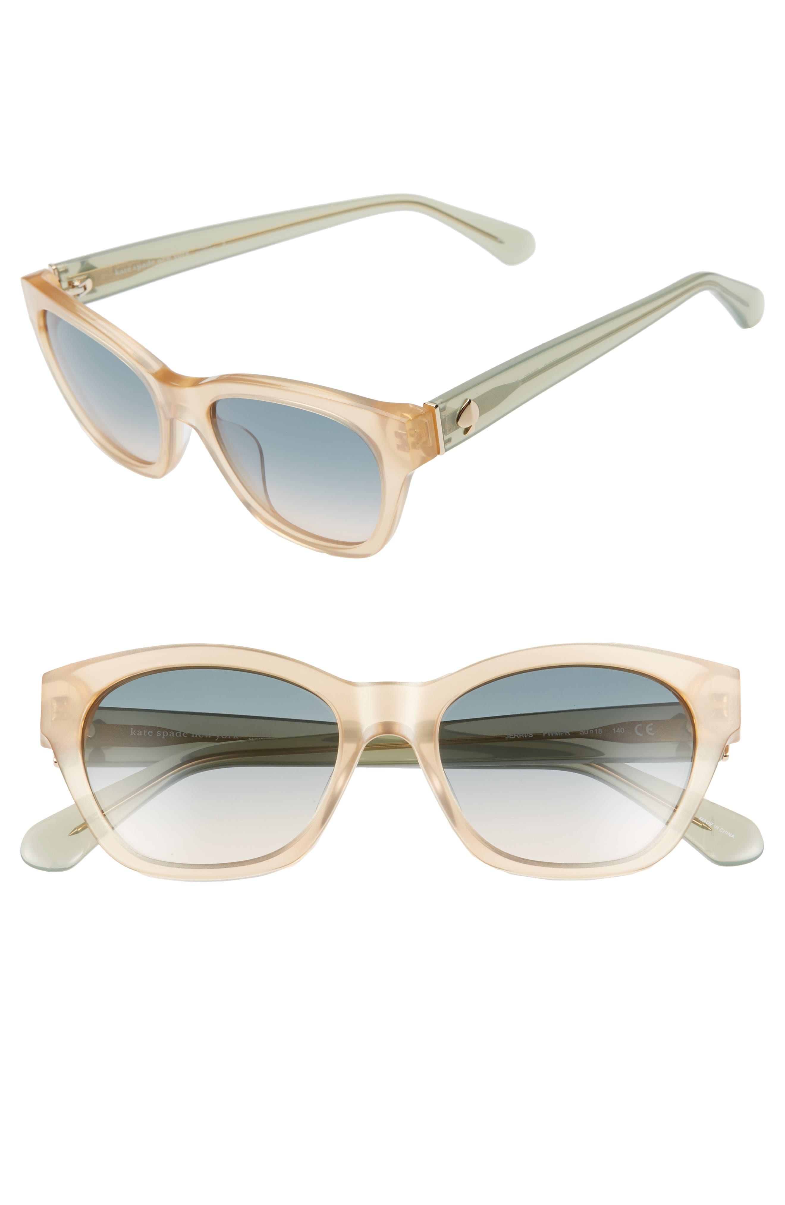 2548903b40e6 Kate Spade New York Jerris 50Mm Cat Eye Sunglasses - Nude