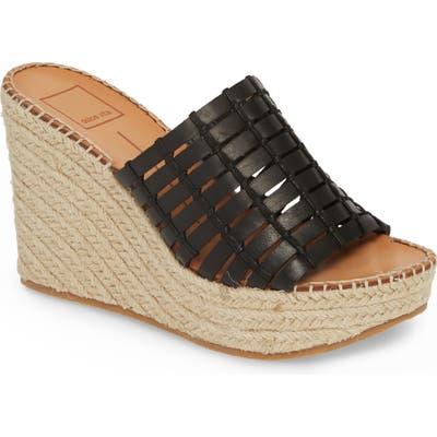 Dolce Vita Prue Espadrille Wedge Slide Sandal- Black
