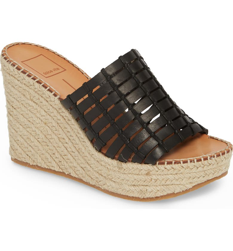 DOLCE VITA Prue Espadrille Wedge Slide Sandal, Main, color, 001