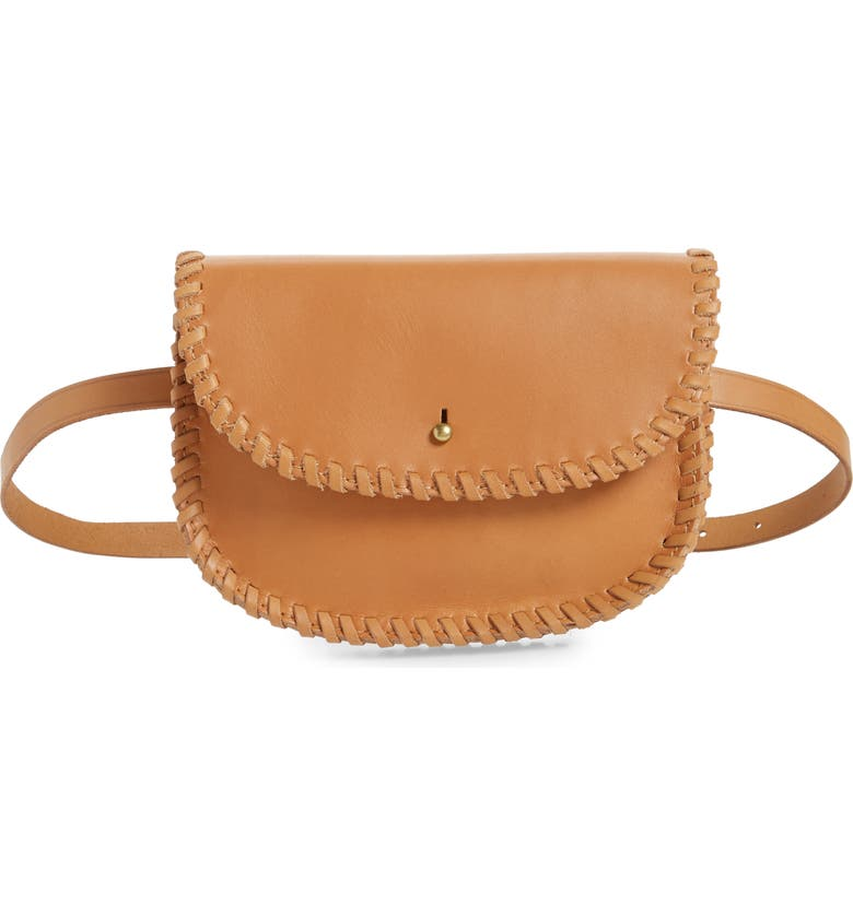 MADEWELL Whipstitch Belt Bag, Main, color, ENGLISH SADDLE