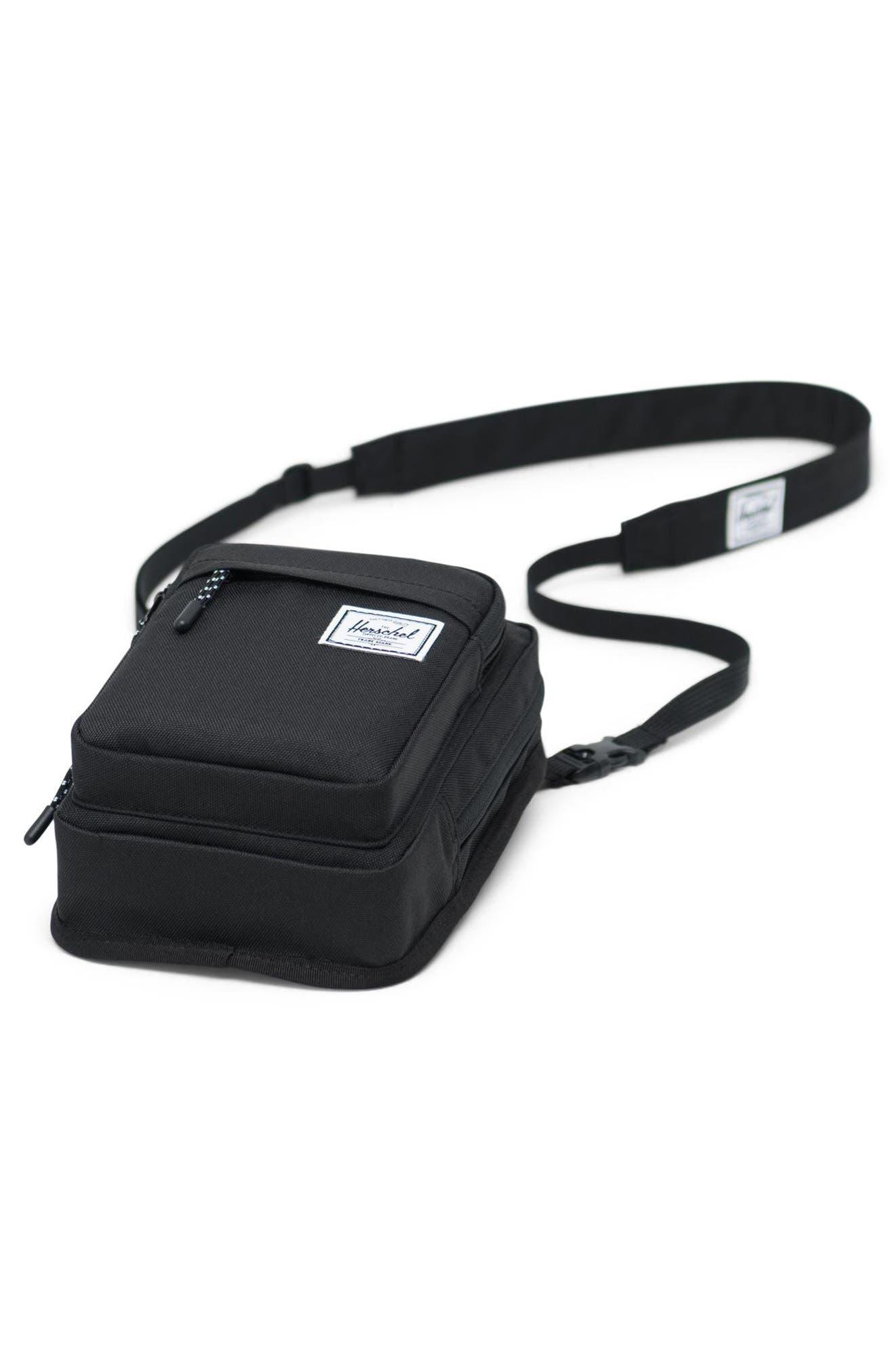 ,                             Large Form Shoulder Bag,                             Alternate thumbnail 3, color,                             BLACK