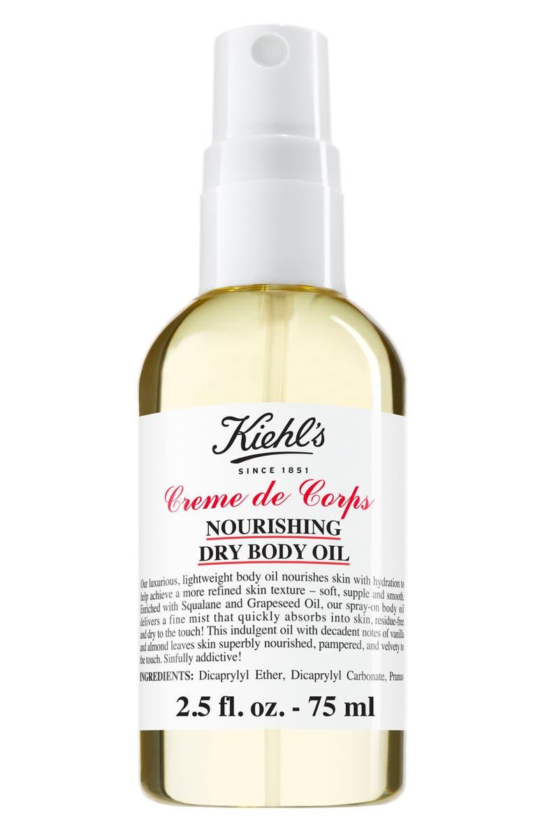 KIEHL'S SINCE 1851 Creme de Corps Nourishing Dry Body Oil, Main, color, 000
