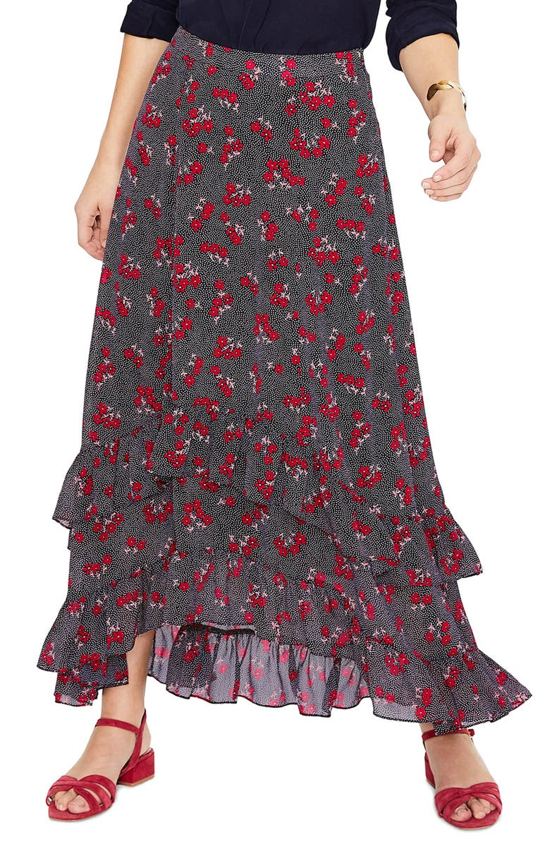 BODEN Coraline Tiered Ruffle Maxi Skirt, Main, color, 414