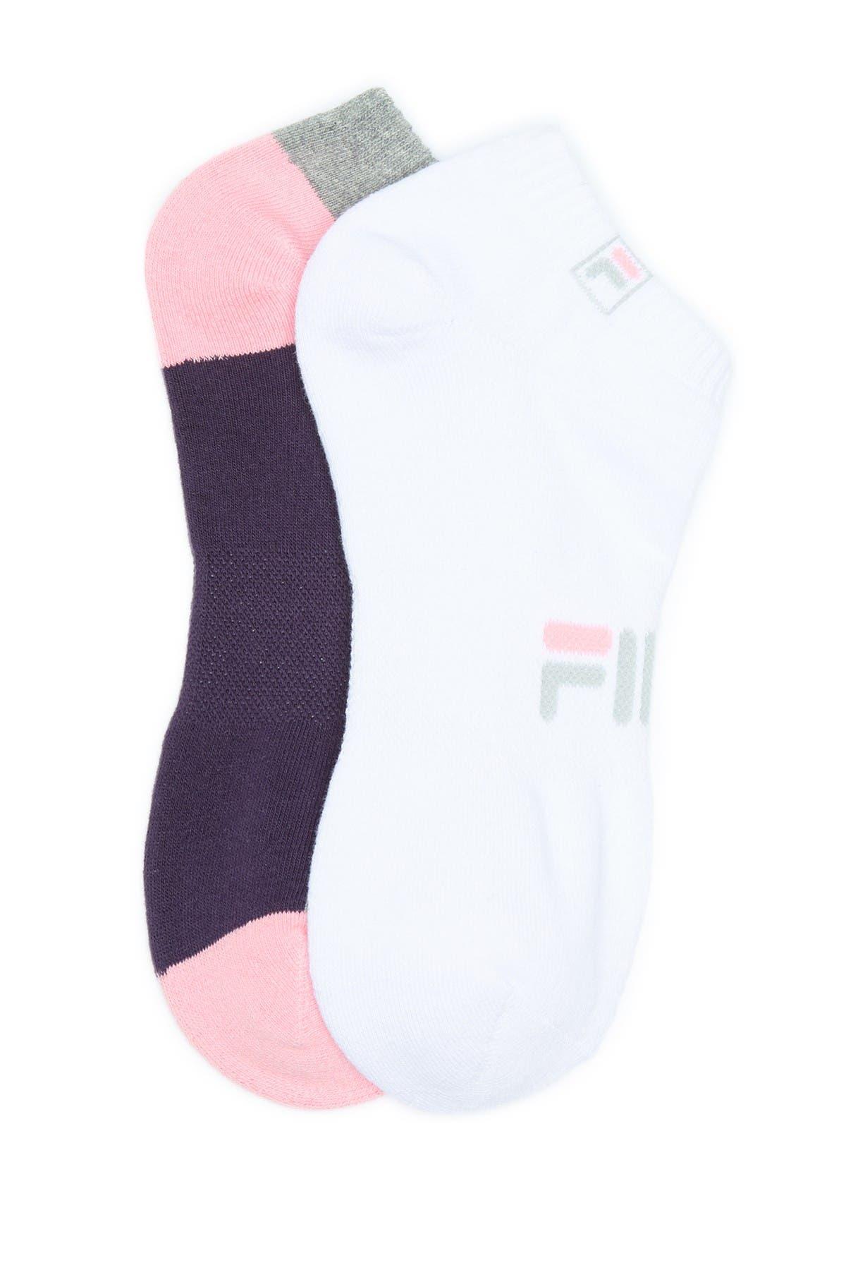 Image of FILA USA Alternate Sole No Show Socks - Pack of 2