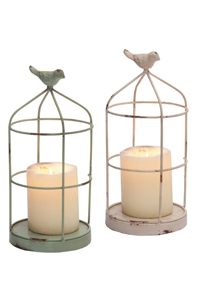 FORESIDE Set of 2 Bird Cage Candleholders, Main, color, 250