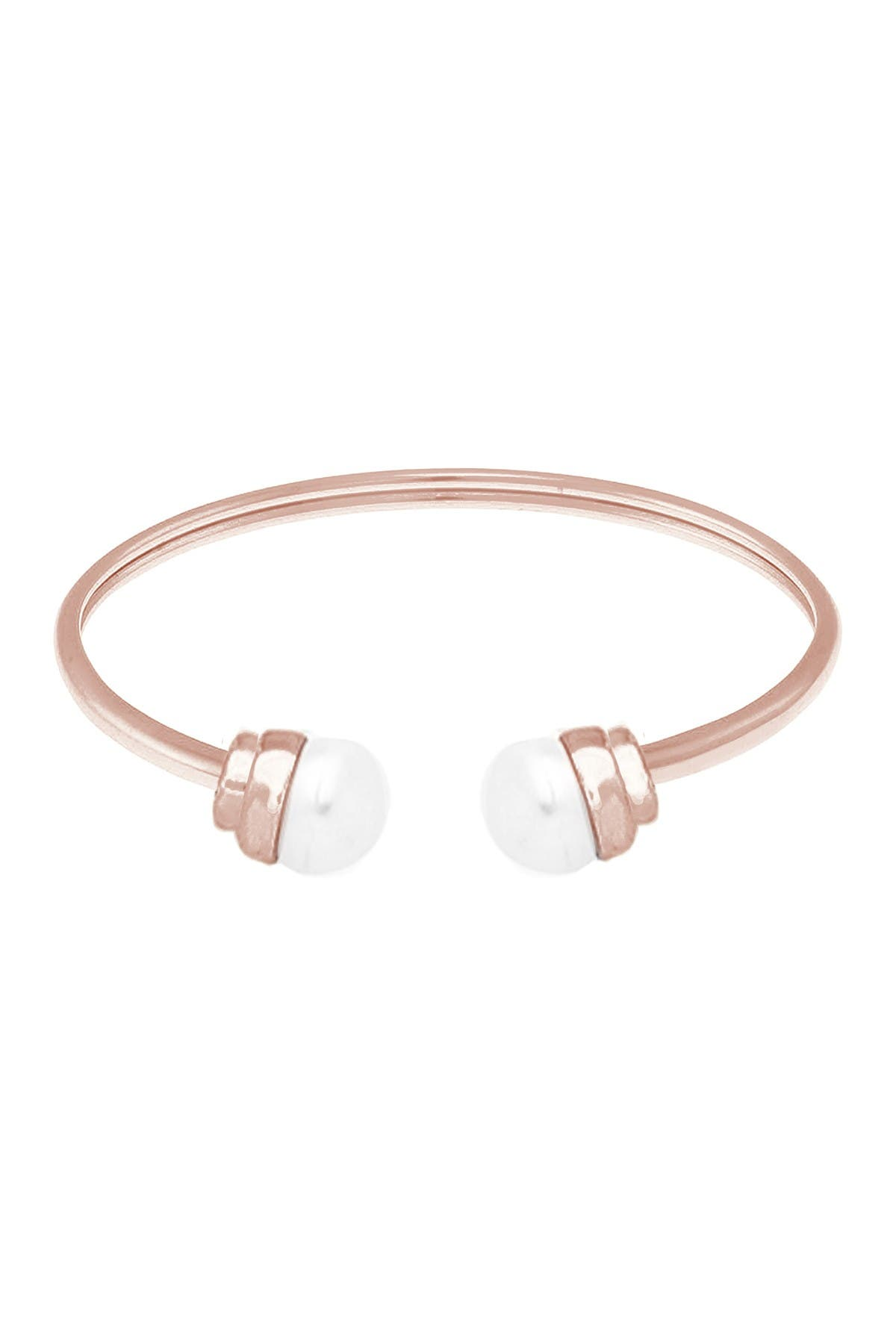 Image of Savvy Cie Cultured Freshwater 9-10mm Pearl Open Bangle Bracelet