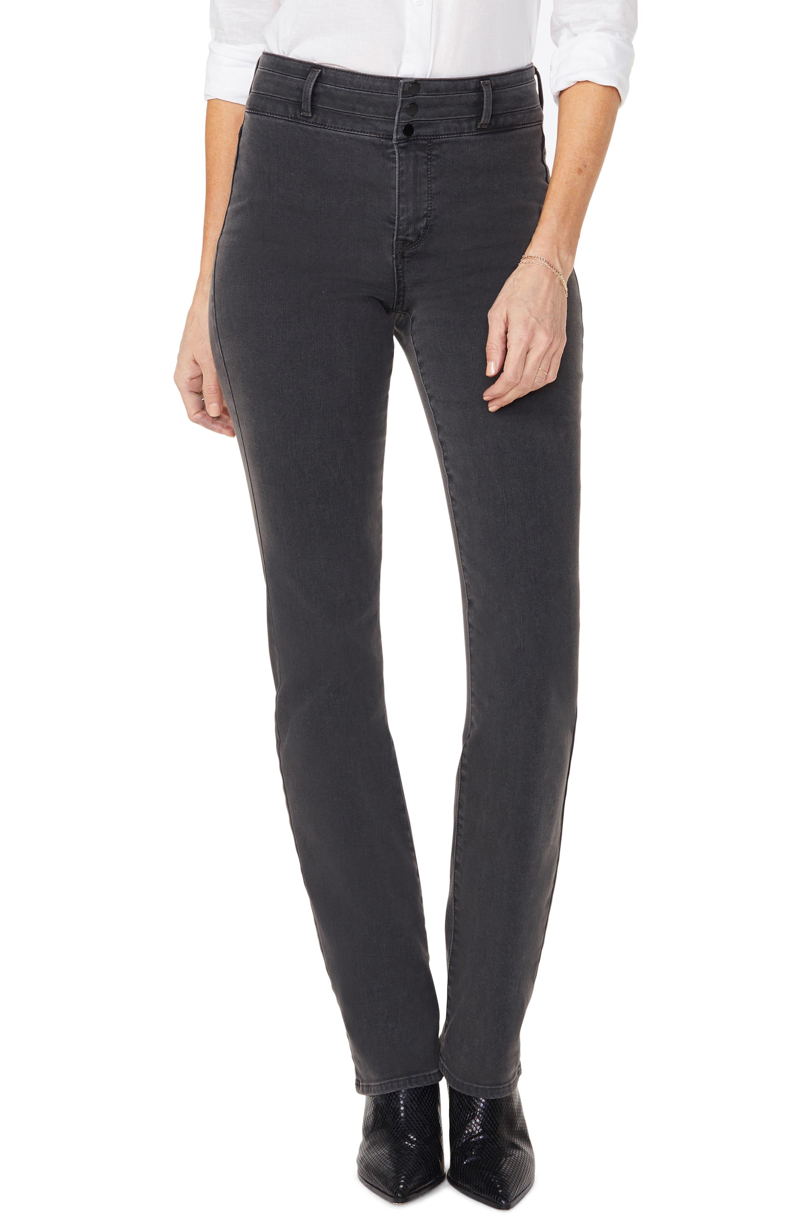 NYDJ Marilyn Paneled Straight Leg Jeans (Folsom)