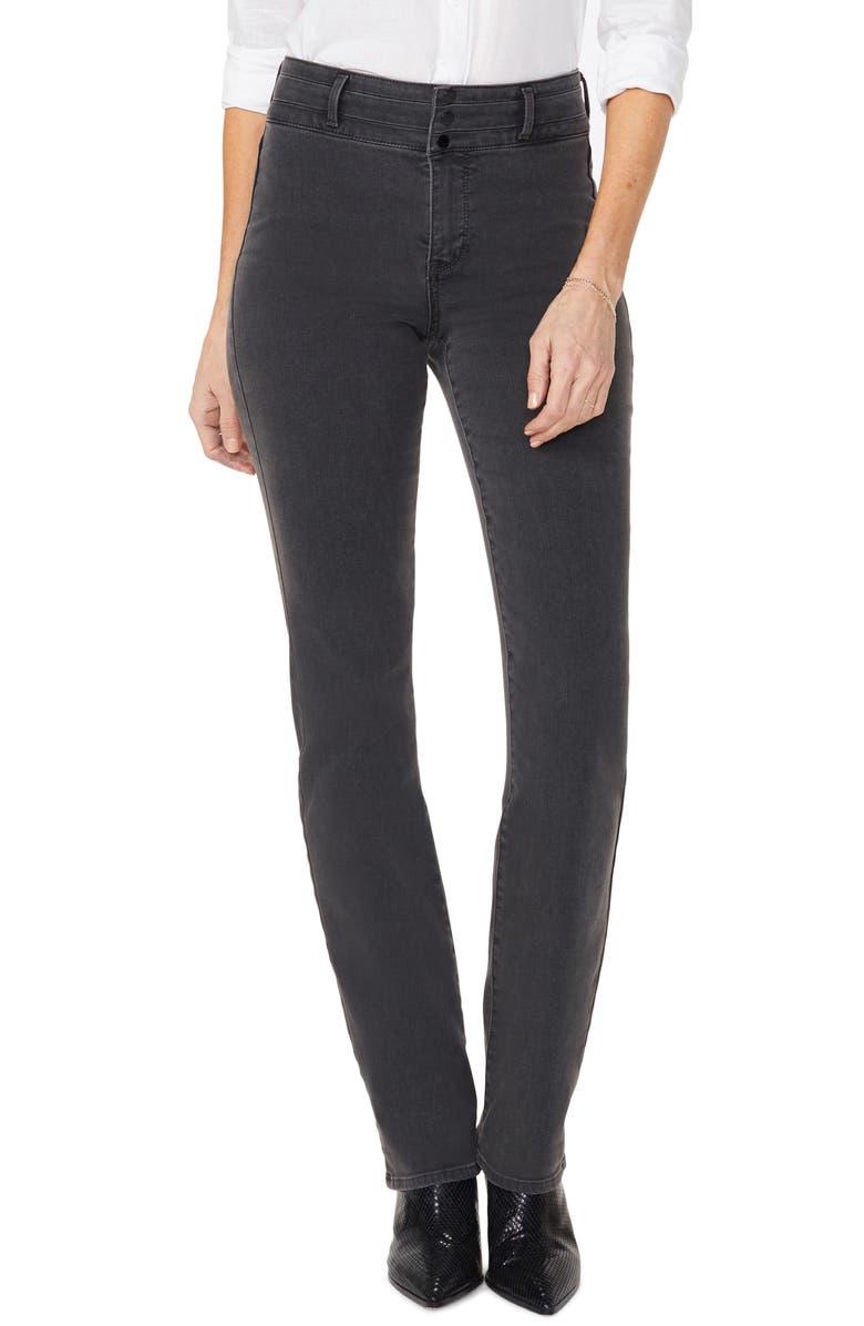 NYDJ Marilyn Paneled Straight Leg Jeans, Main, color, 066