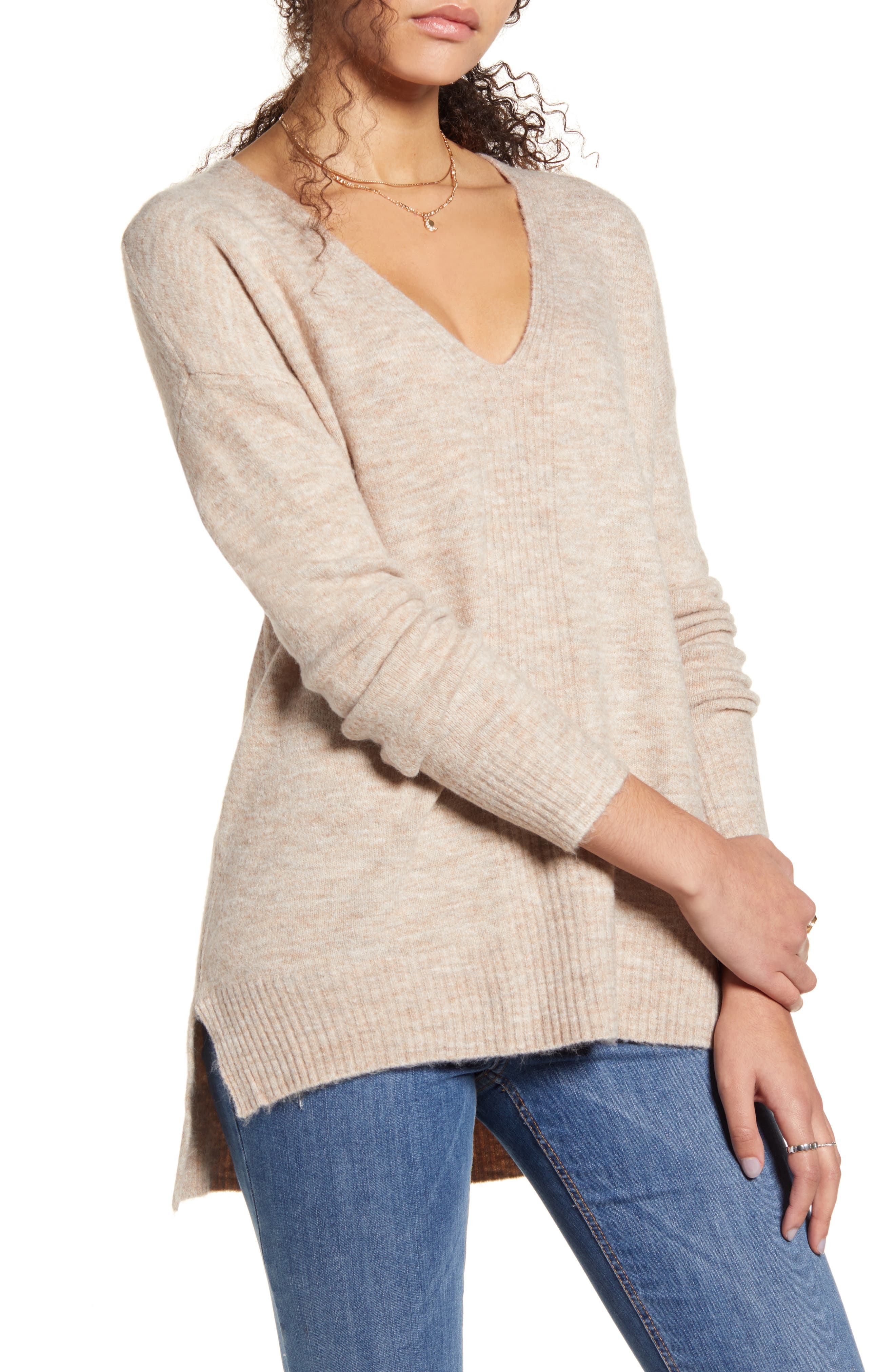Dreamers by Debut Ribbed Detail Tunic Sweater