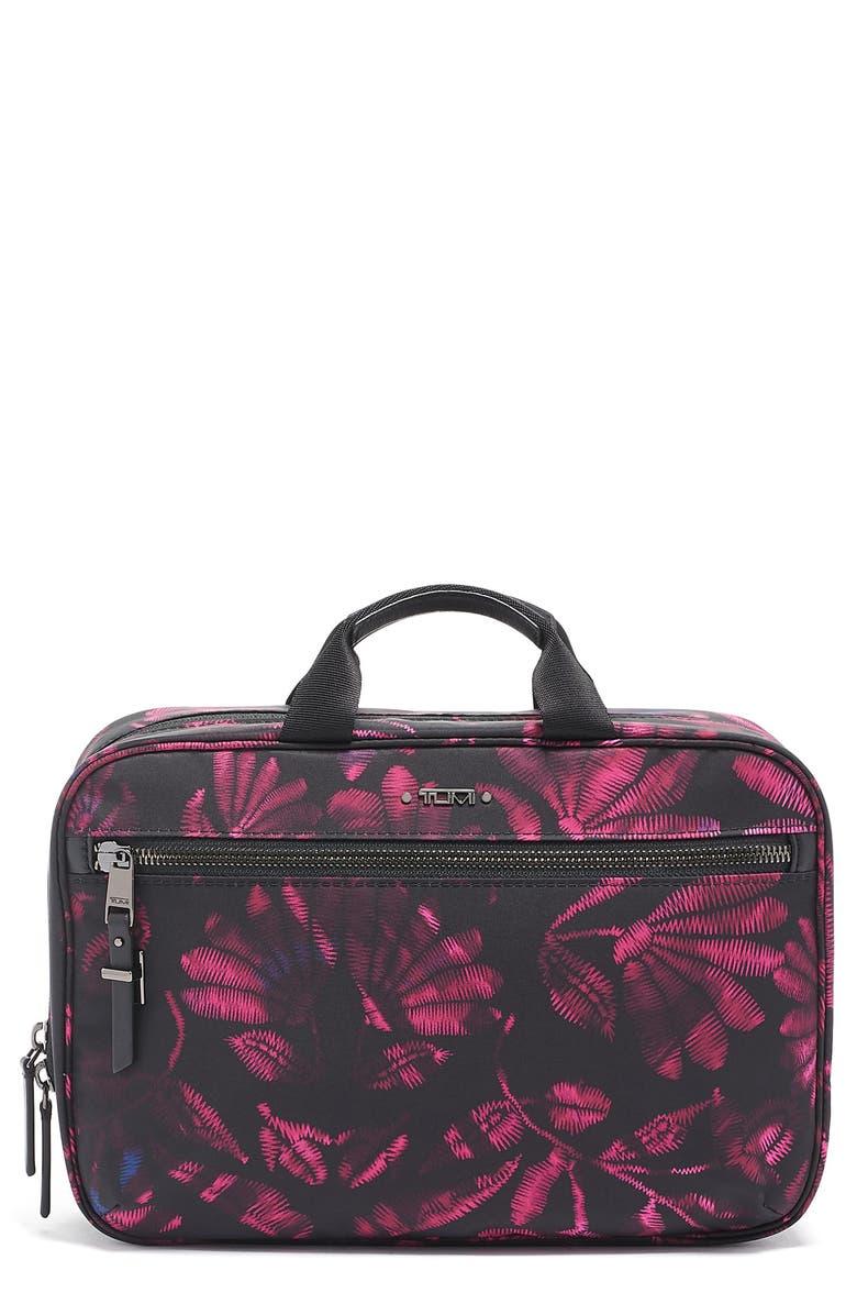 TUMI Voyageur Madina Nylon Cosmetics Case, Main, color, 001