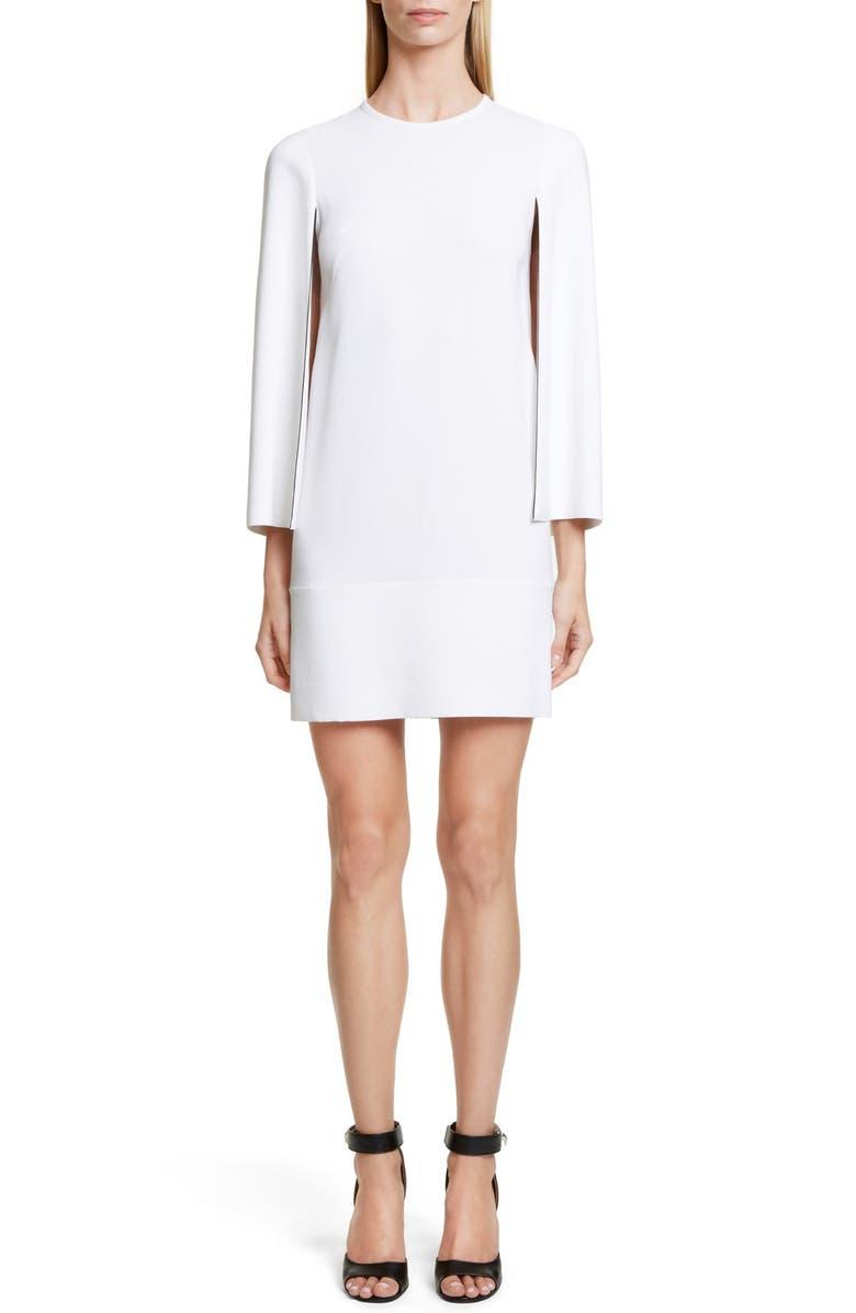 GIVENCHY Cape Sleeve Dress, Main, color, 100