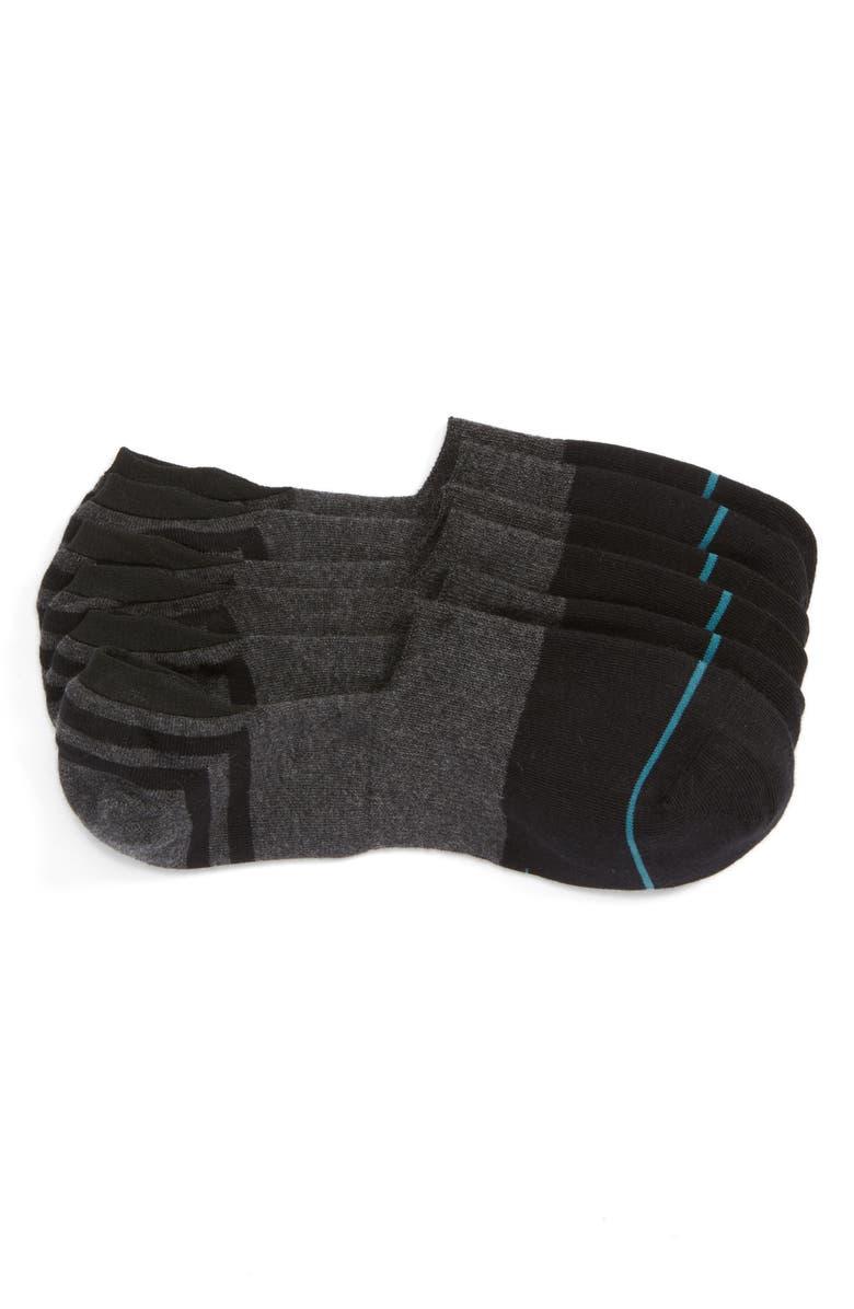 STANCE Gamut 3-Pack No-Show Liner Socks, Main, color, BLACK