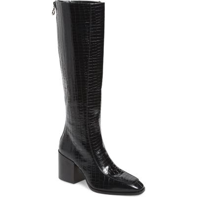 Aeyde Charlie Knee High Boot, Black