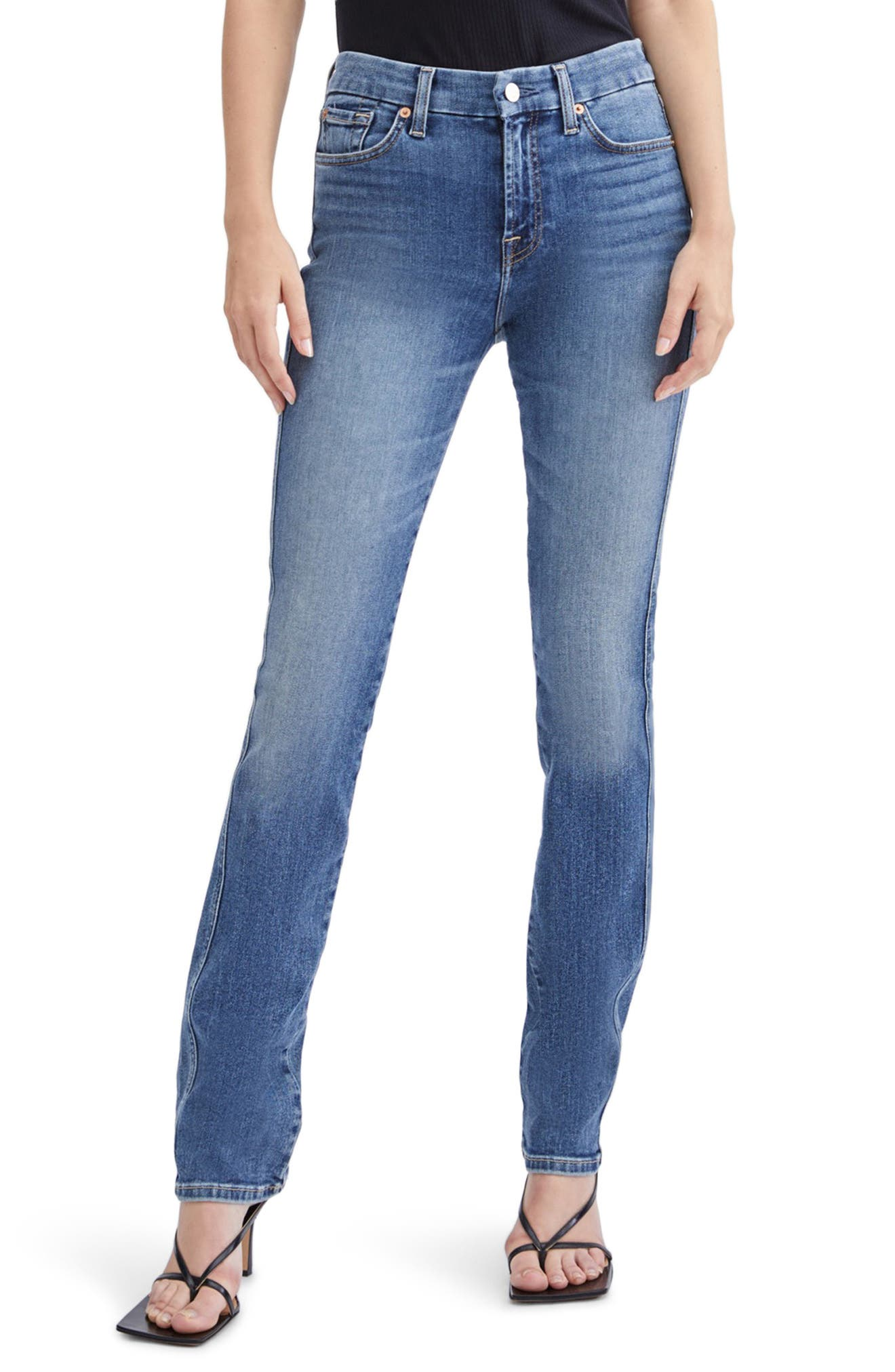 Seven Kimmie Straight Leg Jeans (Cassblue)   Nordstrom