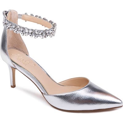 Jewel Badgley Mischka Raleigh Pump, Metallic