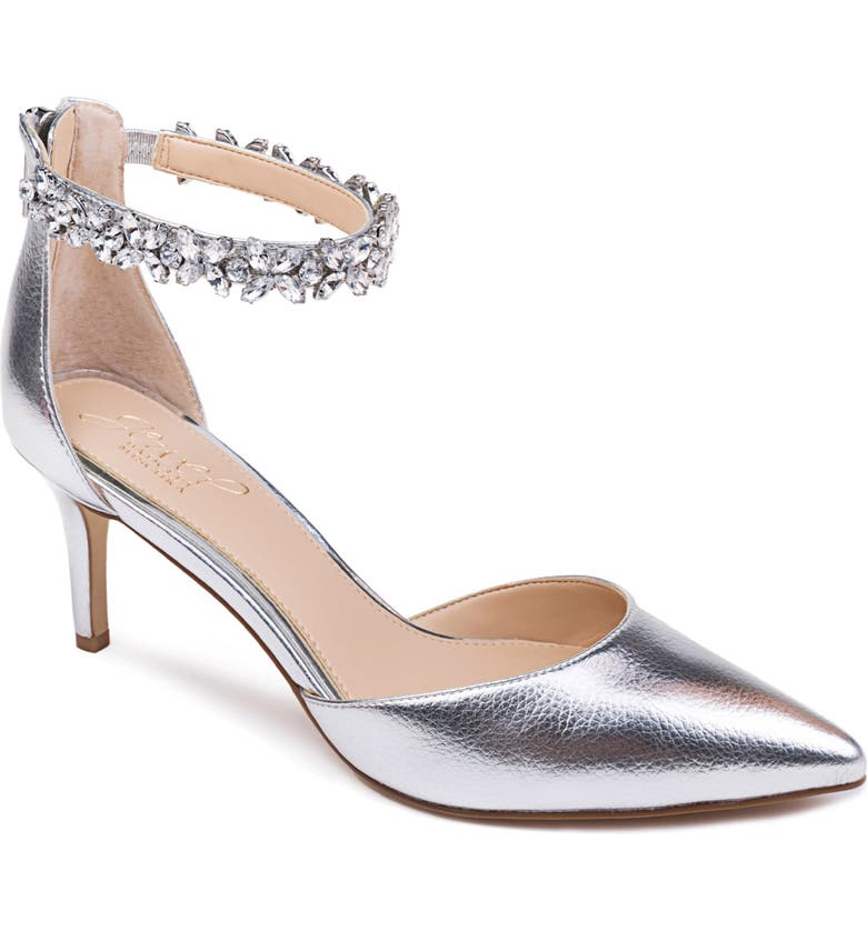 JEWEL BADGLEY MISCHKA Raleigh Pump, Main, color, SILVER LEATHER