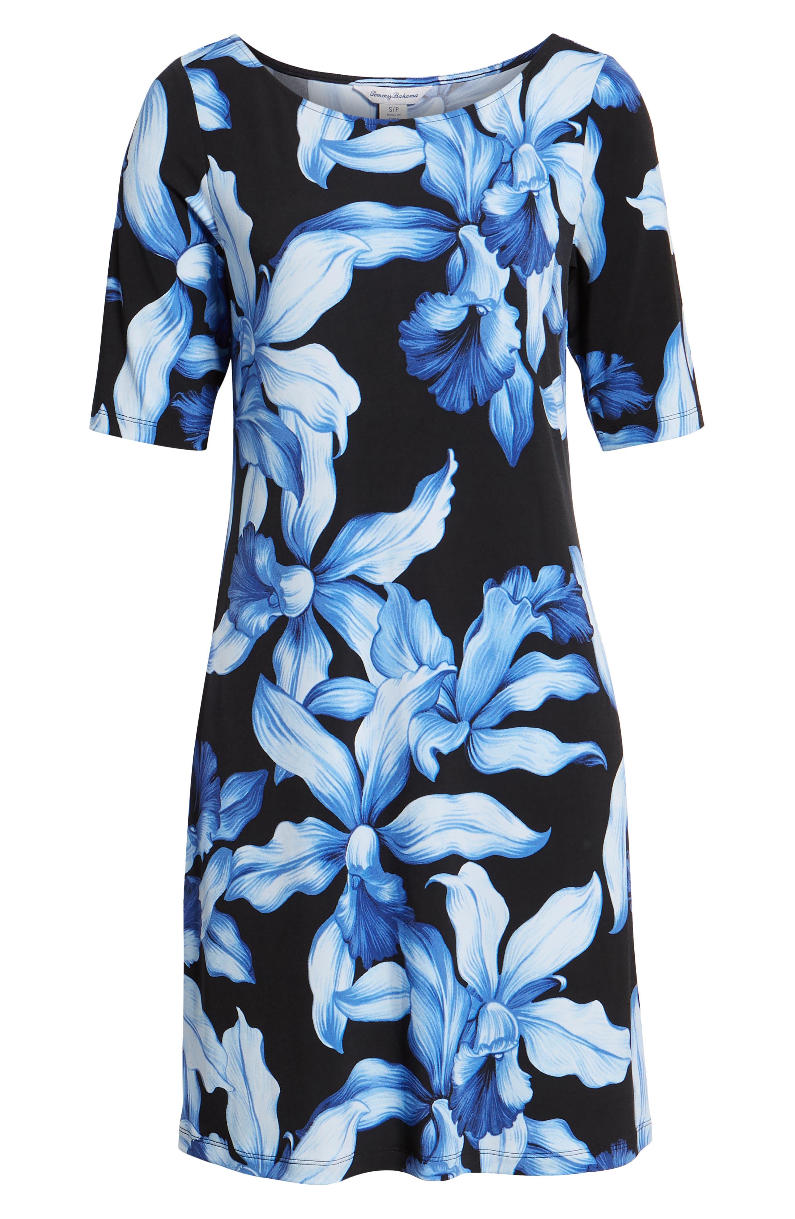 ,                             Orchid Rua Dress,                             Alternate thumbnail 7, color,                             BLACK