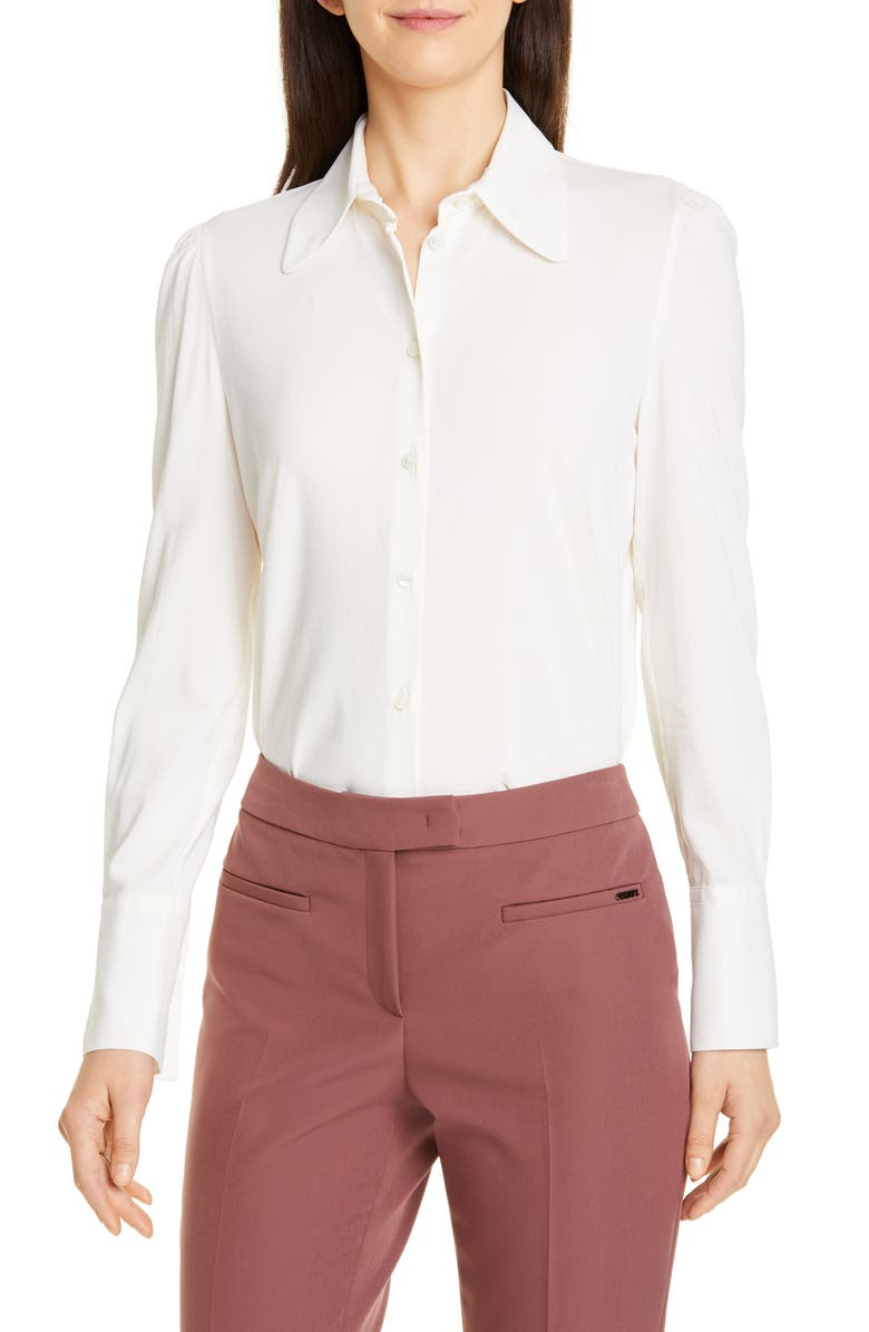 SEVENTY Stretch Blouse, Main, color, IVORY