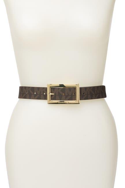 Image of Michael Kors Logo Reversible Belt