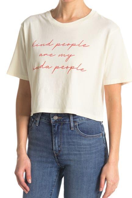 Image of Desert Dreamer Kind People Crop T-Shirt