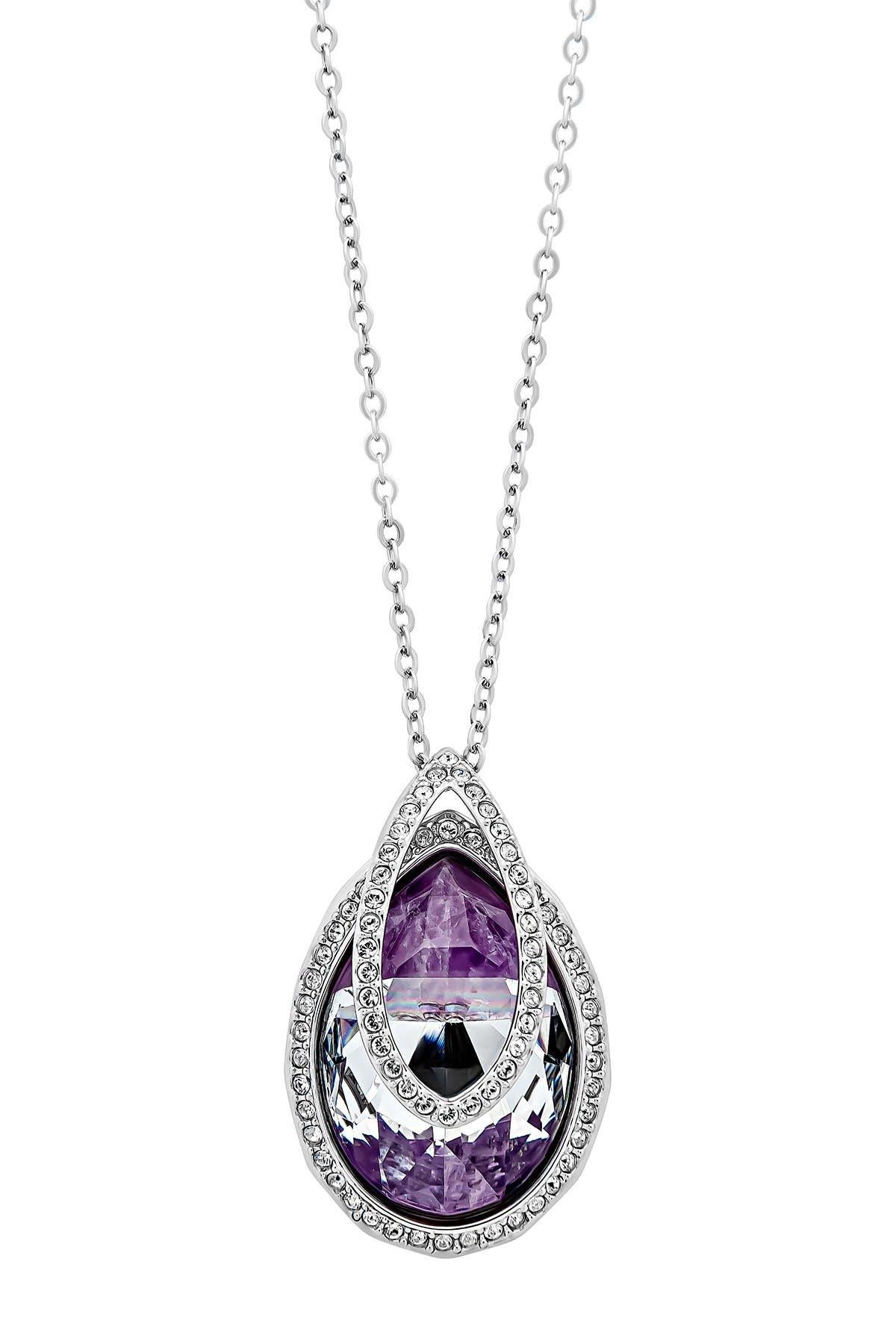 Image of Swarovski Rhodium Plated Swarovski Crystal Dew Florette Pendant Necklace
