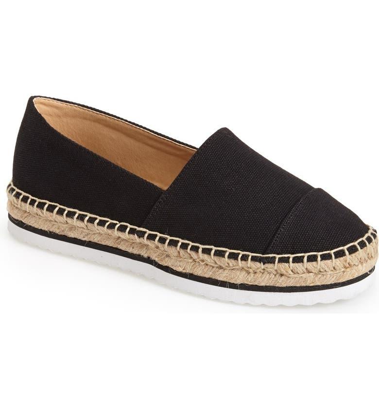 KENSIE 'Ladonna' Sneaker Sole Espadrille Platform  Flat, Main, color, 001