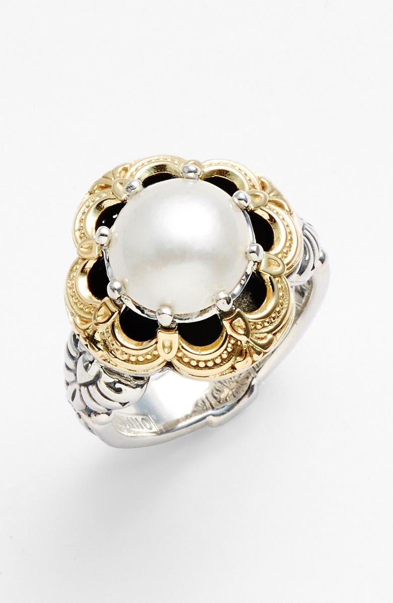KONSTANTINO 'Hermione' Semiprecious Stone Ring, Main, color, SILVER/ GOLD