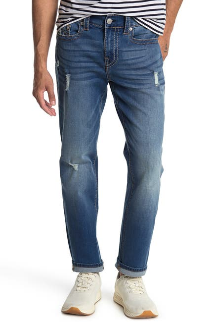 Image of True Religion Geno Big T No Flap Straight Leg Distressed Jeans