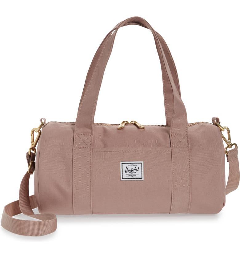 HERSCHEL SUPPLY CO. Mini Sutton Canvas Duffle Bag, Main, color, ASH ROSE