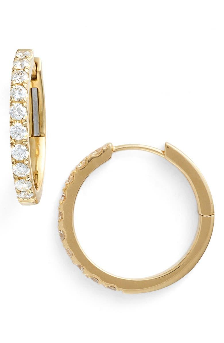BONY LEVY Diamond Hoop Earrings, Main, color, YELLOW GOLD