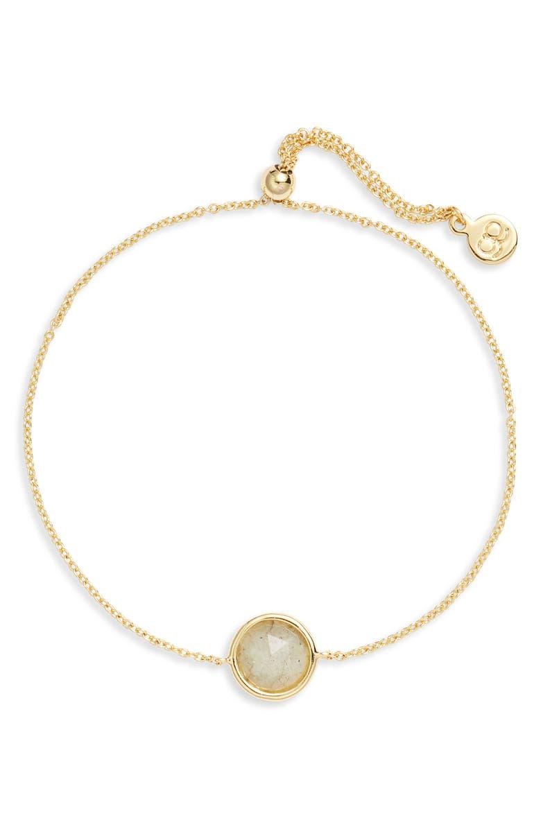 GORJANA Olivia Adjustable Semiprecious Stone Bracelet, Main, color, 020